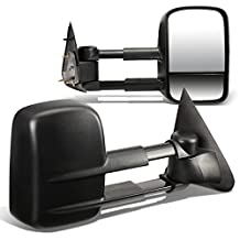 Ford F150 Pair of Powered Telescopic Extended Arm Manual Folding Towing Side Mirrors (Black)