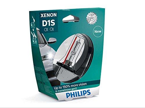 Philips X-tremeVision +150% Xenon Headlight Bulb D1S Gen2 85415XV2S1 (Philips D1s)