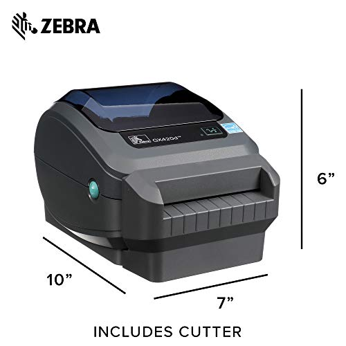 Zebra - GX420d Direct Thermal Desktop Printer for Labels, Receipts, Barcodes, Tags, and Wrist Bands - Print Width of 4 in - USB, Serial, and Parallel Port Connectivity (Includes Cutter) by Zebra Technologies (Image #5)