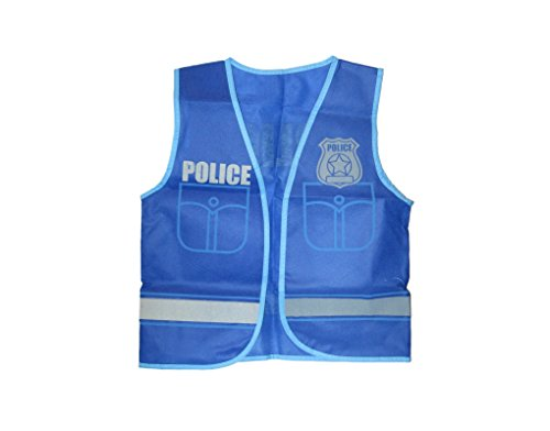 Childrens Dress Up Vest 14 Professions to Choose From - Police Officer (Childrens Police Dress Up)
