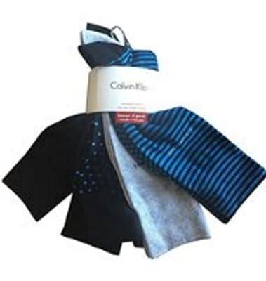Calvin Klein Combed Cotton BONUS 4 Pairs Casual Dress Socks (Designer Mix))