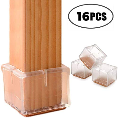 16PC Leg Cover Silicone Floor Protector, Chair Foot Cover Fu
