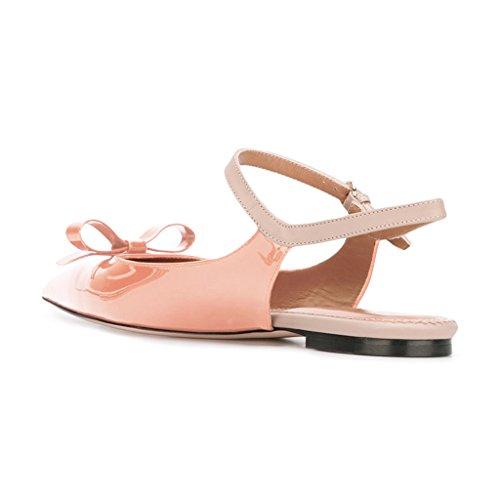 Xyd Office Trendy Dress Slingback Appartamenti A Punta In Punta Di Sandali Con Laccetti Slip On Pumps Shoes Per Donna Nude