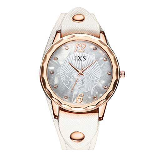 Aanny Watch Women's Creative Brown Leather Dial Quartz Watch Stainless Steel Simple Style Round Dial