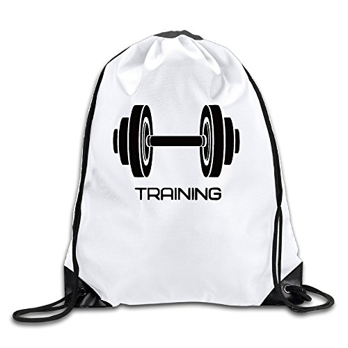 Price comparison product image Unisex Training Dumbbell Gym Quotes Sports Fitness Sports Drawstring Backpack Bag Cool
