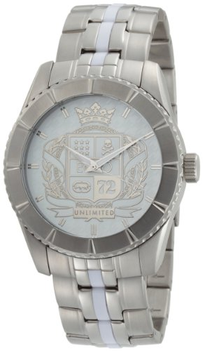 Marc Ecko Men's E11524G1 The Utmost 3-Hand Silver Bracelet Watch