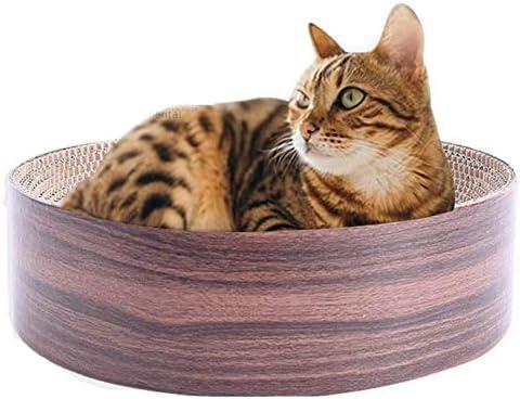 KIOPS Rascador de Gato con Menta para Gatos, Cesta para Gatos, Respetuoso con el Medio Ambiente, cartón Reciclado, Juguete para Gatos, Borde Impermeable para Mantener la Forma del Cuenco.: Amazon.es: Productos para