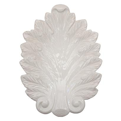 Juliska Leaf Platter Acanthus White 15 Inches