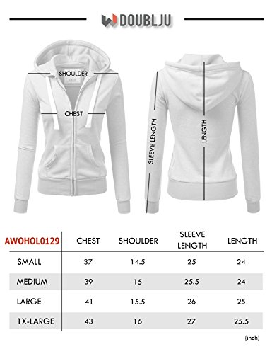 Doublju Lightweight Thin Zip-up Hoodie Jacket for Women with Plus Size MAUVEPINK X-Large by Doublju (Image #4)