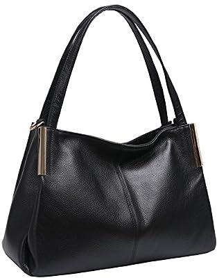 Heshe Women's Leather Designer Handbags Tote Bags Shoulder Bag with CrossBody Strap Satchel for Office Ladies
