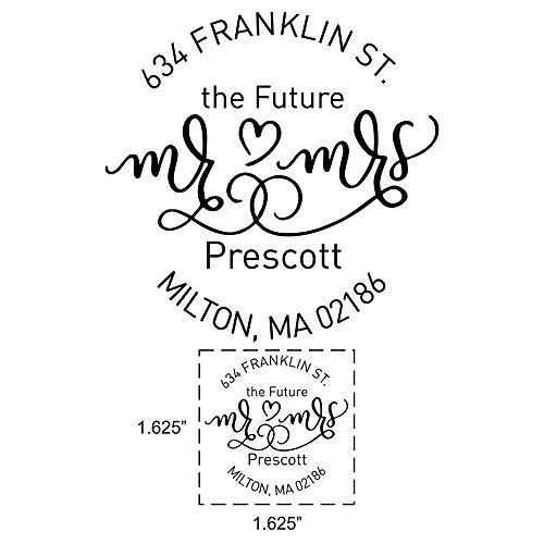 (Custom Future Mr. and Mrs. Wedding Return Address Stamps | Engagement Return Address Stamp | Personalized Wedding Invitation Self Inking Stamp|)