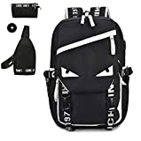 3Pcs Casual Canvas School Backpack Set School Bookbag Travel Daypack Set for Teen Boys Review
