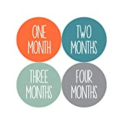 Baby Month Stickers by Months In Motion | 12 Monthly Milestone Stickers for Baby Boy (1039)