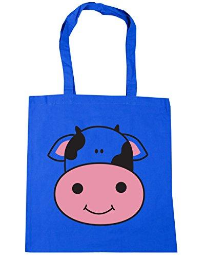 litres Blue Tote HippoWarehouse 42cm 10 Gym Cow Bag x38cm Shopping Beach Cornflower BzFUzqPw