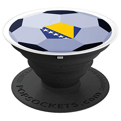 (Flag of Bosnia for Soccer Football & Futbol Lover PACJ3675 - PopSockets Grip and Stand for Phones and Tablets)