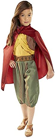 Disney Raya Warrior Costume Outfit with Cape for Girls Size 4-6X [Amazon Exclusive] Brown