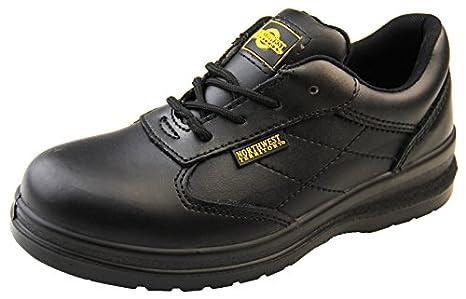 Northwest Territory Mujer Skeena Cuero Negro Puntera De Acero Zapato De Seguridad EU 38