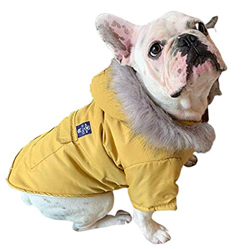 Mo-Magic Cold Weather Cozy Dog Coats Pet Winter Jacket Dog Vest Coat Warm Apparel Soft Windproof Hooded Coat