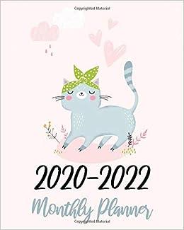 2020-2022 Monthly Planner: Pink Cute Cat, 36 Months Calendar ...