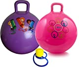 Hippity Hop 45 cm / 18 Inch Diameter Including Free Foot Pump, for Children Ages 3-6 Space Hopper, Hop Ball Bouncing Toy - 2 Balls