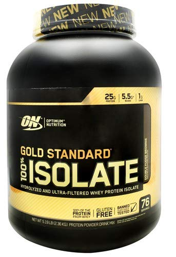 Optimum Nutrition Gold Standard 100% Isolate Double Fudge Brownie - 5 Lb (76 Servings)