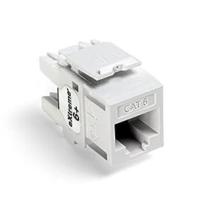 Leviton 61110-RW6 eXtreme 6+ QuickPort Connector, CAT 6, White