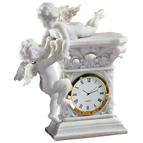 (Design Toscano Baroque Twin Cherubs Desktop Clock )