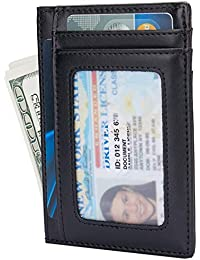 a882f3a9fa60 Small RFID Blocking Minimalist Credit Card Holder Pocket Wallets for Men &  Women