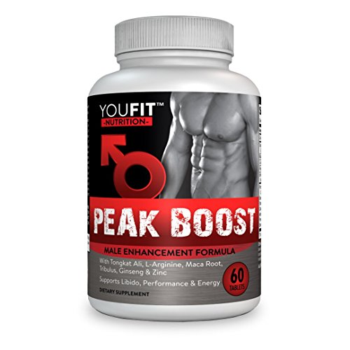 PEAK BOOST Supplement Powerful Ingredients: 2,273mg Formula, Increase T- Levels , Energy, Libido, Stamina, Muscle Mass, Strength with Tribulus, L -Arginine, Maca, Tongkat Ali, Muira Puama & (Tribulus Muscle Building)