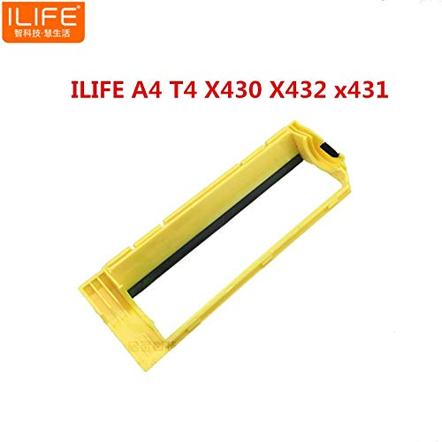(HBK 1pcs Original Main roll Middle Brush Cover for ILIFE T4 X430 X432 x431 ILIFE A4 Vacuum Robot Cleaner Parts Accessories)