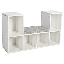 6 Shelf White Bookcase Bookshelf Storage Wall Organizer Cubby Holder Decor Rooms