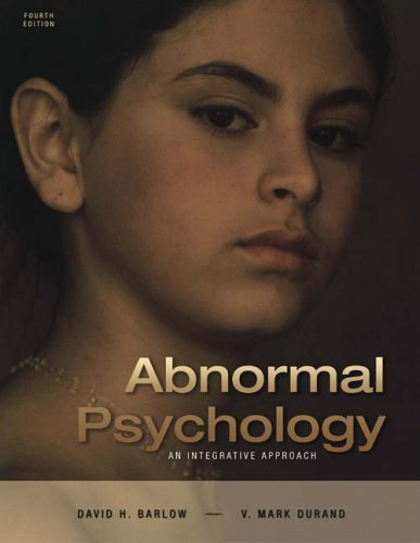 Abnormal Psychology: An Integrative Approach (with CD-ROM and InfoTrac) -