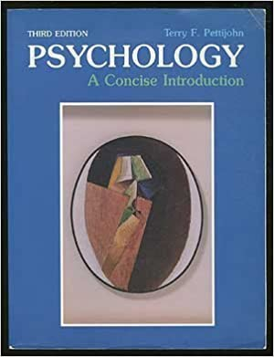 Book Psychology: A Concise Introduction by Terry F. Pettijohn