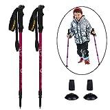 YOURJOY 2 Pack Children Climbing Trail Trekking Hiking Poles Ultralight 2 Sections Aluminum