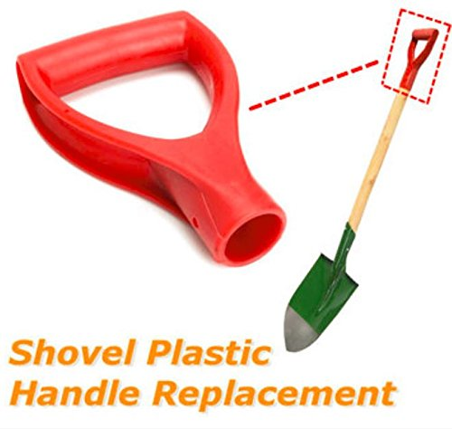 Plastic Red Scoop Poly D Grip Handle Replacement Lawn Farm Snow Removal Spade Fork Shovel by Rubyshop