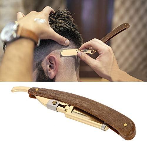 Navaja de Afeitar profesional para barbero, Máquina de afeitar de barba de acero inoxidable, Herramienta de depilación para cortar el cabello: Amazon.es: Belleza
