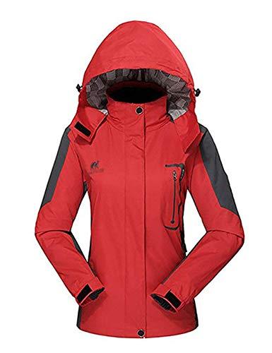 Diamond Candy Womens Waterproof Raincoat with Hood for Hiking