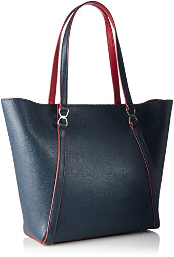 Tommy Hilfiger Fashion Novelty SC, Sac Femme, Multicolore (Midnight / Scooter Red), 13x31x33 cm