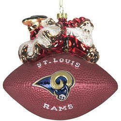 Los Angeles Rams Glass Football Ornament