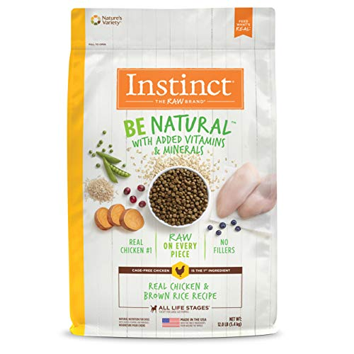 (Instinct Be Natural Real Chicken & Brown Rice Recipe Natural Dry Dog Food by Nature's Variety, 12 lb. Bag)