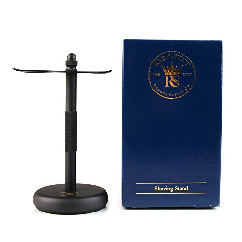 RoyalShave Safety Razor and Brush Stand - Powder Coated Black by Royal Shave