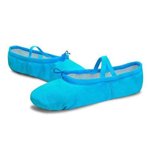 L-run Ballet Canvas Dansschoenen Voor Meisjes / Vrouwen / Ballet Verzender / Yoga Schoen Blauw
