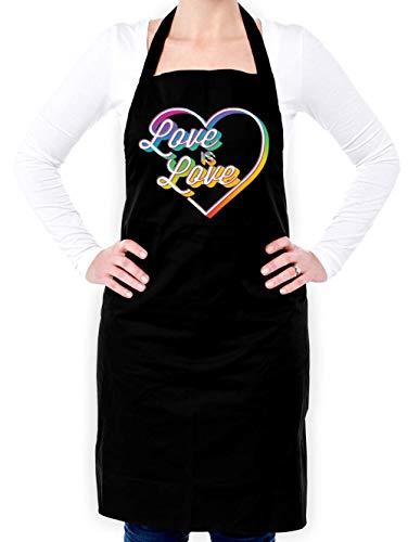 Dressdown Love is Love - Unisex Adult Apron - Black - One Size by Dressdown (Image #4)