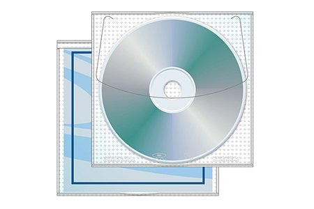 - Modified JewelpakTM CD/DVD sleeve with Safety-sleeve® - Case of 1000