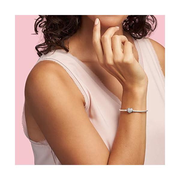 Pandora–Bracciale in Argento 925con zirconi Bianco 18cm 590727cz 18 2