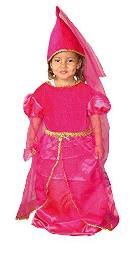 EL CARNAVAL Disfraz Princesa Medieval Fucsia niña Talla de 2-4 ...