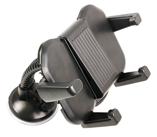 DURAGADGET Suction Mount and Tray in Black - for Sony BDP-S1100 Blu-ray Disc Player