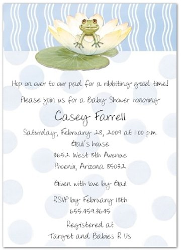 Amazon lily pad on blue baby shower invitations set of 20 lily pad on blue baby shower invitations set of 20 filmwisefo