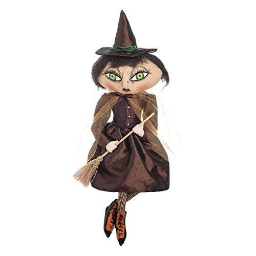 Gathered Traditions Matilda Witch with Broom 24