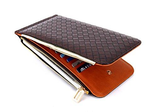 LETMEBUY長財布 薄型 二つ折ズ レディースカードケース カード20枚 収納 大容量 財布 本革 革 人気 小銭入れ 女
